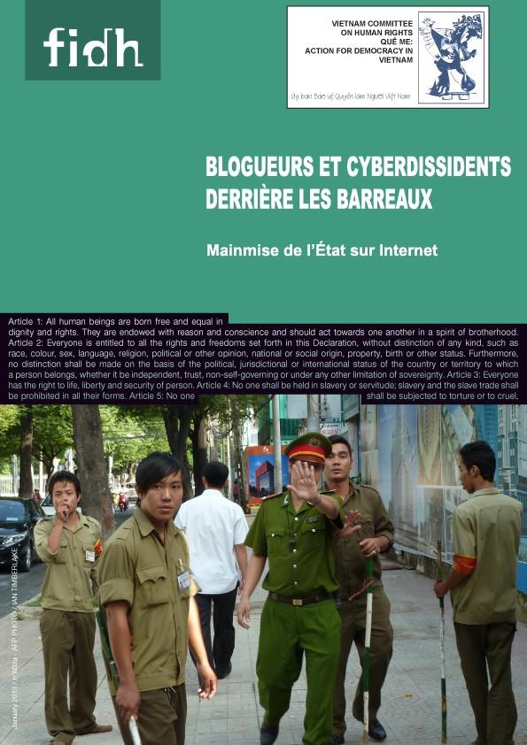 Blogueurs et Cyberdissidents derrière les Barreaux : Mainmise de l'État sur l'Internet au Vietnam (FIDH & VCHR)