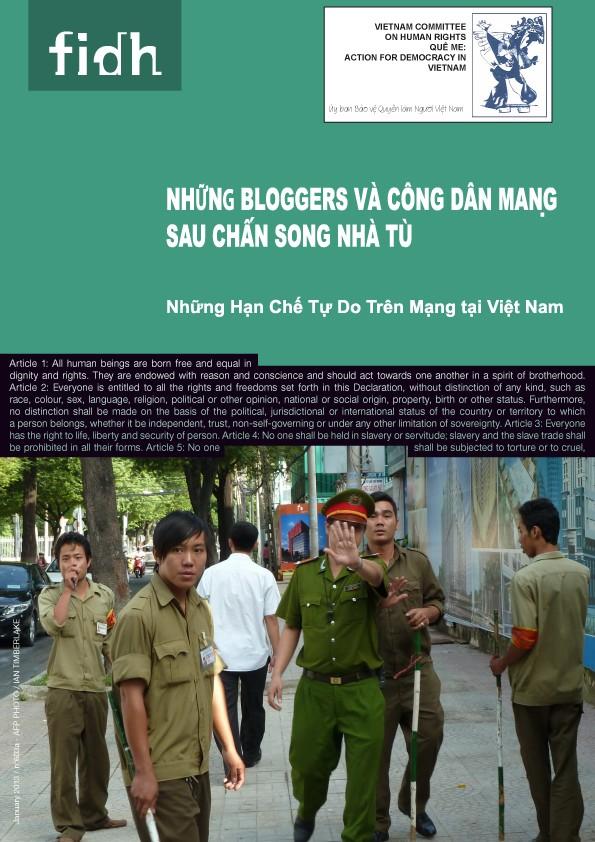 Những Bloggers và Công dân mạng sau chấn song nhà tù: Những Hạn Chế Tự Do Trên Mạng tại Việt Nam (FIDH & UBBVQLNVN)