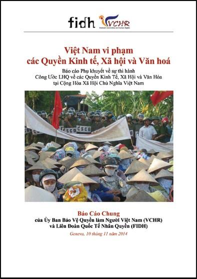 Việt Nam vi phạm các Quyền Kinh tế, Xã hội và Văn hoá, Báo cáo Phụ khuyết về sự thi hành Công Ước LHQ về các Quyền Kinh tế, Xã hội và Văn hoá tại Cộng Hoà Xã Hội Chủ Nghĩa Việt Nam (FIDH & UBBVQLNVN)