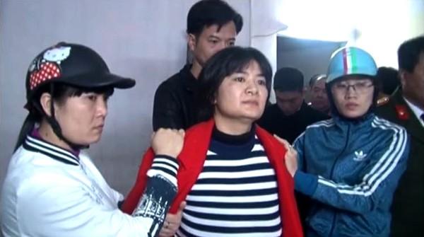 Mme Tran Thi Nga le jour de son arrestation (21 janvier 2017)