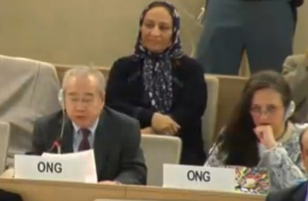 Mr. Võ Văn Ái speaking today at the Human Rights Council