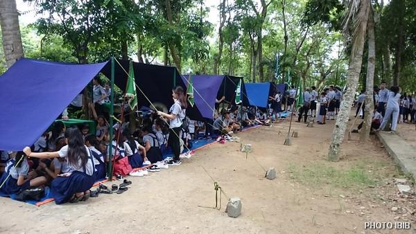Lều trại đã dựng lên