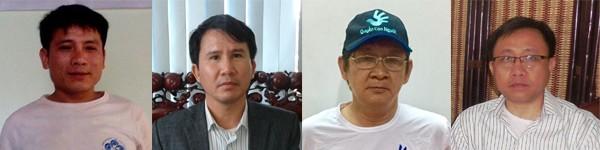 Le pasteur Nguyễn Trung Tôn, Phạm Văn Trội, Trương Minh Đức et Nguyễn Bắc Truyển