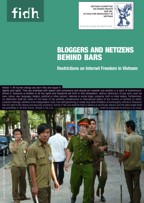 "Report ""Bloggers and Netizens Behind Bars: Restrictions on Internet Freedom in Vietnam"""