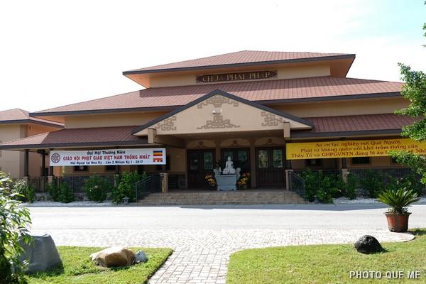 Chùa Phật Pháp tại Tp St Petersburg, tiểu bang Florida, nơi diễn ra Đại hội