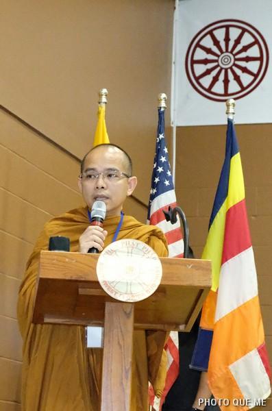 TT, Thích Trí Tịnh, Trưởng ban Tổ chức đọc Diễn văn Khai mạc