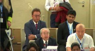 Ông Võ Văn Ái phát biểu tại khoá họp Hội đồng Nhân quyền LHQ lần thứ 39, ngày 18-9-2018