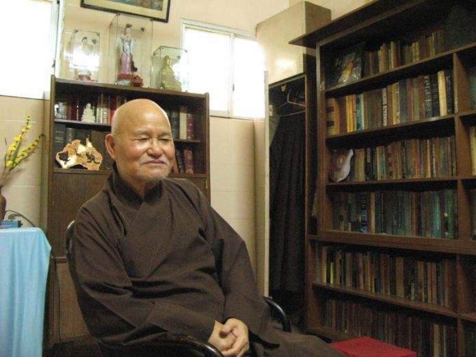Hòa Thượng Thích Quảng Độ tại Thanh Minh Thiền Viện ở Sài Gòn năm 2007. (Hình: Getty Images)