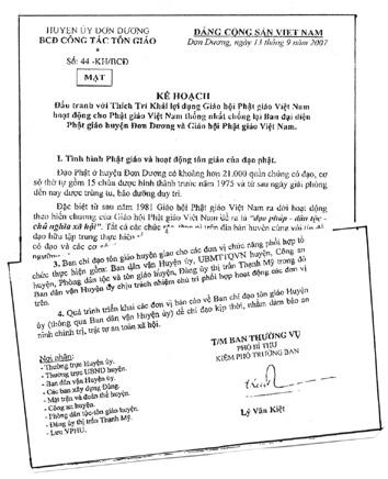 """""""Secret Plan"""" No. 44-KH/BCD, 13 September 2007"""