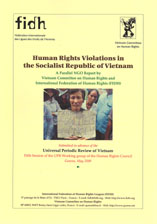 Parallel NGO Report by Vietnam Committee on Human Rights and the FIDH, submitted in advance of the Universal Periodic Review of Vietnam