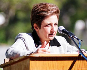 Bà Shirin Ebadi, Khôi nguyên Giải Rafto và Giải Nobel Hòa bình. Source humanrighthouse