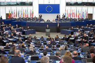 Một phiên họp của Nghị viện châu Âu ở Strasbourg miền đông nước Pháp vào tháng 2 năm 2013 (Photo AFP)