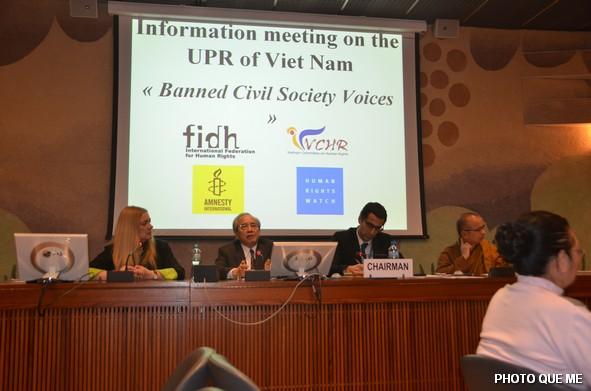 Các diễn giả trên bàn thuyết trình tại Hội luận ở LHQ