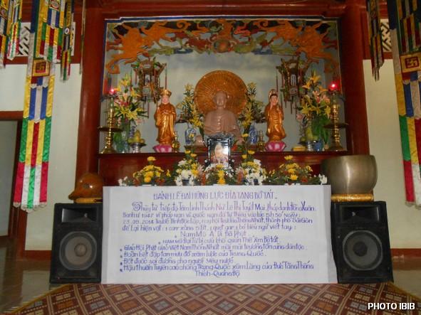 Linh đài Huynh trưởng Lê Thị Tuyết Mai tại Tu viện Long Quang, Huế trong Lễ Cầu siêu Tưởng niệm ngày 25.5.2014 - Hinh PTTPGQT