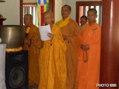 Hoà thượng Thích Như Đạt, Viện trưởng Viện Hoá Đạo đọc lời Truy Điệu - Hinh PTTPGQT