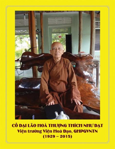 Tập sách 44 trang Tưởng Niệm nhân ngày Chung Thất Cố Đại lão Hoà thượng Thích Như Đạt