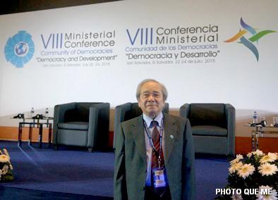 Ông Võ Văn Ái tại Hội cấp Bộ trưởng lần thứ 8 tại San Salvador, Trung Mỹ