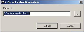 Lúc đó, người sử dụng phải gõ tên hồ sơ chỗ mình muốn giữ lại dữ liệu dưới dạng đã giải nén.