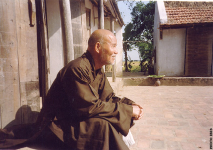 Venerable Thich Quang Do in internal exile (Thai Binh province)
