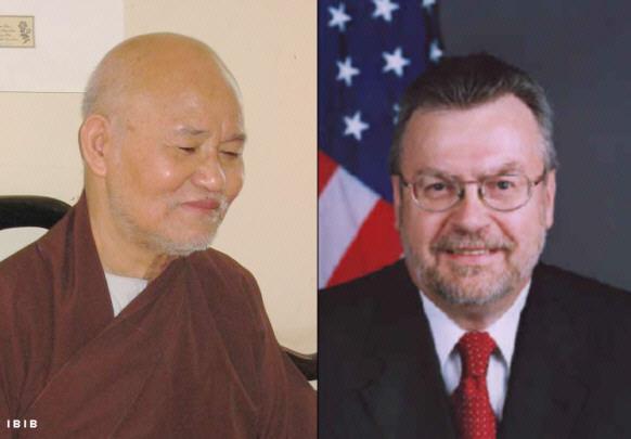 Le Vénérable Thich Quang Do & l'Ambassadeur américain Michael W. Marine