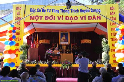 Lễ Đài Đức cố Tăng Thống Thích Huyền Quang tại chùa Bảo Phước, thành phố San Jose, California, Hoa Kỳ