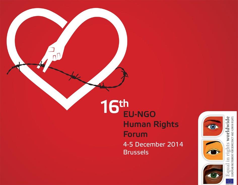 Chương trình Hội thảo của Diễn Đàn Nhân quyền Liên Âu và các tổ chức Phi Chính phủ lần thứ 16