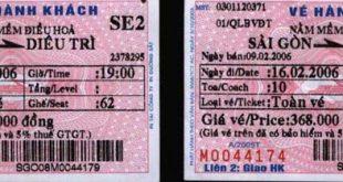 Vé xe lửa Saigon – Bình Định mua sẵn nhưng Công an cấm lên tàu (16.2.2006) (Photo IBIB)