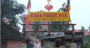 Cổng chùa Phước Huệ bị phá sập sáng ngày 1.4.2008