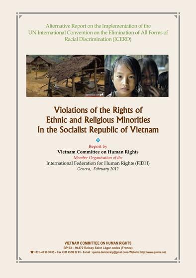 VCHR Alternative Report on CERD 2012