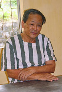 Pham Van Thu after his arrest in February 2012