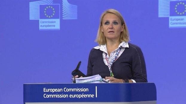 Bà Maja Kocijancic, phát ngôn nhân Liên Âu (Ảnh do tác giả cung cấp)