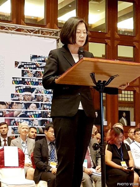 Bà Tổng Thống Đài Loan, Thái Anh Văn, đọc Diễn văn khai mạc và chào mừng Đại hội