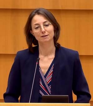 Nữ Dân biểu Saskia Bricmont (Đảng Xanh, người Bỉ) - Photo: VCHR